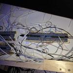 Bodnardkarten hinter Verschalung für Anschluss der Schalter