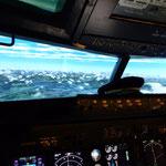 Flug über die Alpen