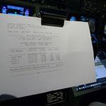 Ladepapiere mit aktullem Gewicht für Start und Landung