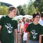 Warten auf den Start, das Team aus Oberrarbach