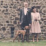 Hochzeit mit Hund und Bautpaar mit Hund - Nadine, Karsten und Ronja - April 2016