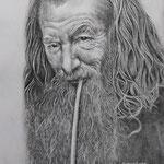 Gandalf - potlood op schetspapier - A3 - te koop