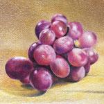 Druiven - kleurpotlood op papier - 21x14cm - te koop