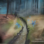 Sprookjesbos - pastelpotlood op pastelmat - 30x42cm - te koop