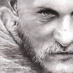 Ragnar Lothbrok - grafiet, Pierre Noire op tekenpapier - afm. A4+ - te koop