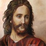 Jesus (H.Hofman) - olieverf op canvas - 32x24cm - niet te koop