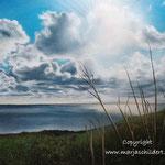 Zee Zoutelande - pastelpotlood op pastelmat - 30x42cm - te koop