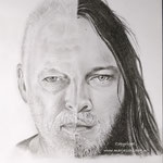 David Gilmour - jong/ouder - grafietpotlood op papier - 21x29cm - te koop