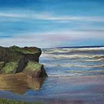 Zee bij Hoek van Holland - pastelpotlood op pastelmat - 57x35cm - te koop