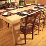 ébénisterie Marquis - Table console à rallonges