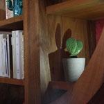 ébénisterie d'art  - la bibliothèque cactus