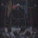 「二人の墓標」460×300 oil on cotton  2015