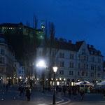 Ljubljana gestern Abend, als ich die Innenstadt erkundete - heute geht's auf bei Tageslicht...