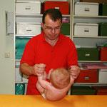 Untersuchung der Bauchmuskelkette
