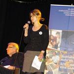 Ada von der Decken, Chefredakteurin Eimsbüttler Nachrichten, im Hintergrund: Volker Skierka. Foto: Günther von der Kammer