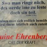 Besinnliches auf der Ruine Ehrenberg.