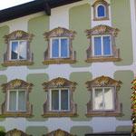 Klassische Fensterbemalung.