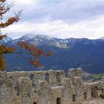 Teilansicht Ruine Schlosskopf.