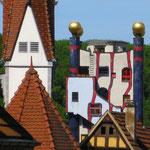 Hundertwasser Wohnanlage unterm Regenturm in Plochingen