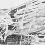 Zutritt verboten 3, 59x84 cm, Zeichnung Kohle, 2019