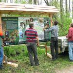 Aufbau der Tafeln des Waldlehrpfades