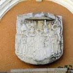 """Novi Vinodolski, """"Bishop's Palace"""", arms of Bishop Ivan Krstitelj Jezic"""