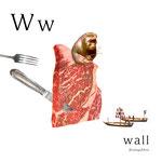 アルファベットシリーズ w「wall」