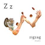 アルファベットシリーズ z「zigzag」