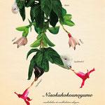 「植物と動物を組み合わせた、不思議な生き物図鑑」012:ニソクホコウノユメ 二足歩行で歩くことに憧れ、植物や仲間たちの力を借りて夢を叶えようとしている。 歩みはとても遅い。