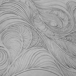 「渦」の続きの下絵。鉛筆の下書きをイラストレーターでなぞって製作しています。20150708