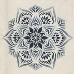 """""""psychedelic flower"""" stencil design"""