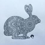 動物たちの心の曼荼羅「うさぎ」 20170518