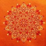 sun flower stencilpaint on canvas