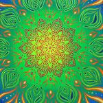 sun flower 45.5×53 Linen on Acryl live paint 20161120