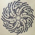 文字曼荼羅「卯月」20160401