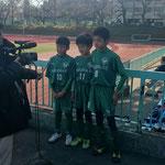 試合の後でTV市川さんの取材 放送ではカットでした。。。残念