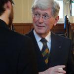 Frank Asbeck, Schatzmeister, Ankerpunkt zahlreicher Gespräche, geht gern auf die Menschen zu.