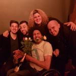 Mit Frank Richter, Kerstin Luhr, Eddie Ramirez und Renato Kaiser nach gemeinsamem Auftritt im ZAK in Jona.