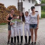 Unsere drei super braven Mädls! Christina und Lena sind stoooolz! :)
