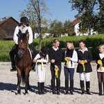 Siegerinnen Julia und Katharina B., Sophia, Nadine, Katharina D. und Hanna