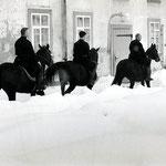 Vor dem Aufschwung des Autos bedeutete das Pferd Mobilität und ermöglichte den Patres relativ bequem und zügig zu reisen. Foto: Klosterarchiv
