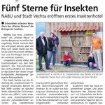 Fünf Sterne für Insekten Quelle: Sonntagsblatt 12.06.11