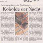 Kobolde der Nacht Quelle: OV am Sonntag 29.08.11
