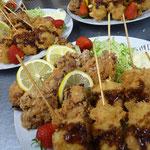 1例 鶏から揚げ 串カツ