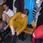 Préparation pour la plongée sous glace...