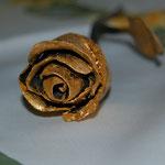 Rose (geschmiedet, Blattvergoldet)