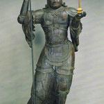 木造毘沙門天立像(金勝寺絵はがきより)