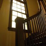 曲線が美しい階段手すりと窓