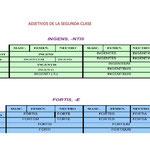 19.- ADJETIVOS DE LA SEGUNDA CLASE.