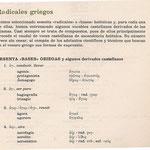 1. Radicales en el Castellano1.